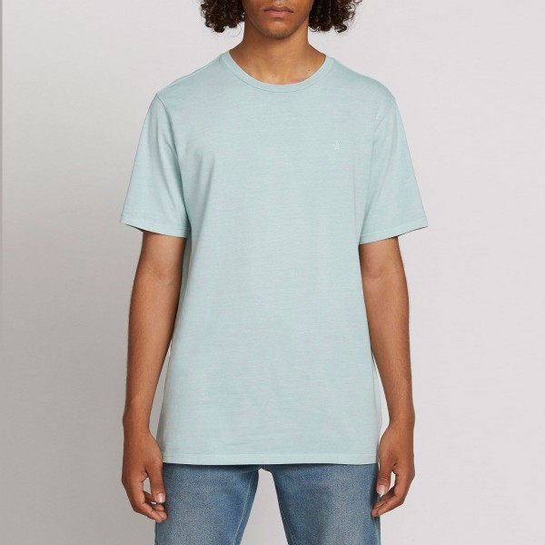 Volcom SOLID STONE EMB SS TEE Cool Blue