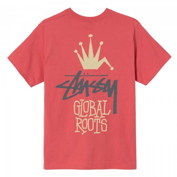 Stüssy Global Roots Tee pale red 1904622-0660