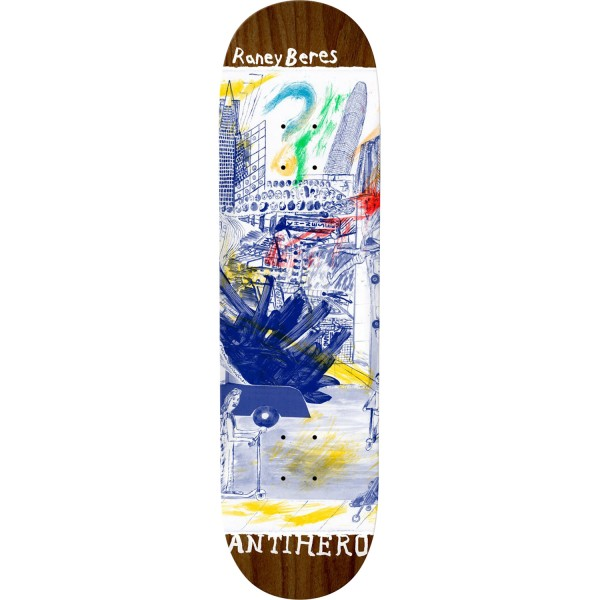 """Anti Hero Skateboards Raney Beres SF Then And Now Deck 8.12"""""""