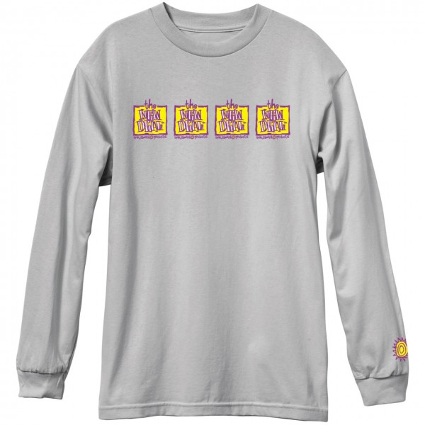 New Deal Skateboards Original Napkin 4 Bar Longsleeve grau