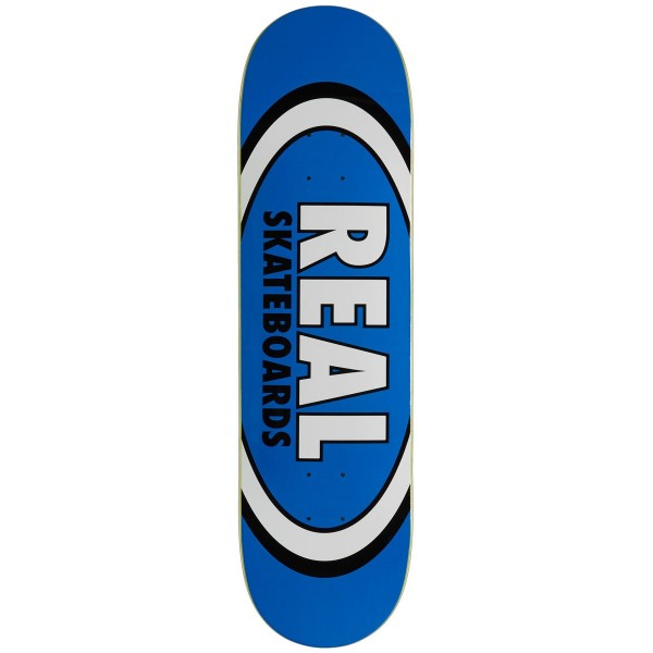"""Real Skateboards Classic Oval Blue deck 8.5"""" 01"""