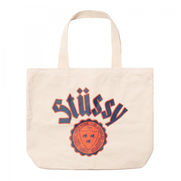 Stüssy City Seal Canvas Tote Bag 01