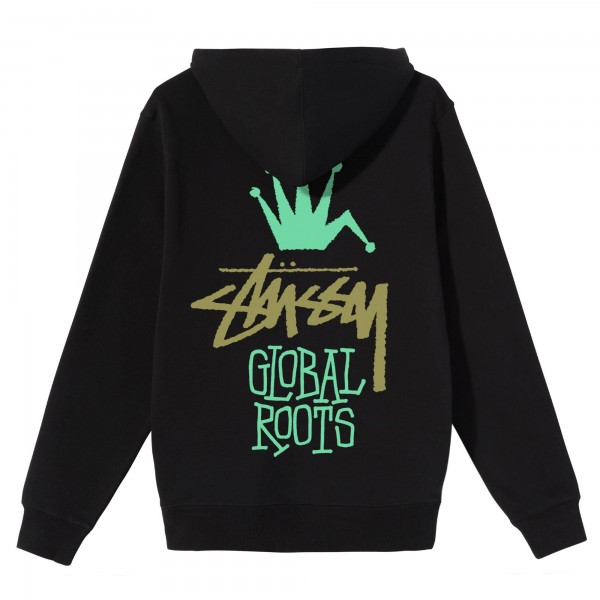 Stüssy Global Roots Hood Black 01