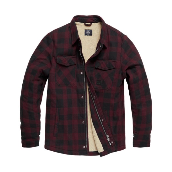 Vintage Industries Craft Heavyweight Sherpa Red Check 01