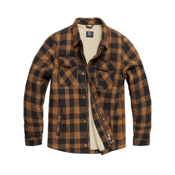 Vintage Industries Craft Heavyweight Sherpa Yellow Check 01