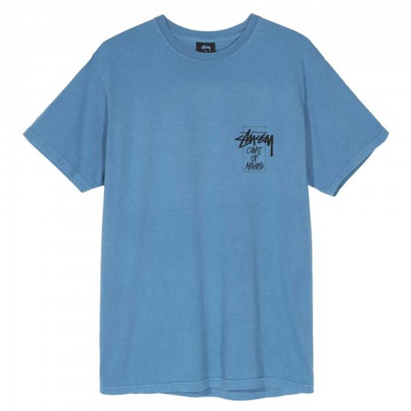 Stüssy Coat Of Arms Tee Blue
