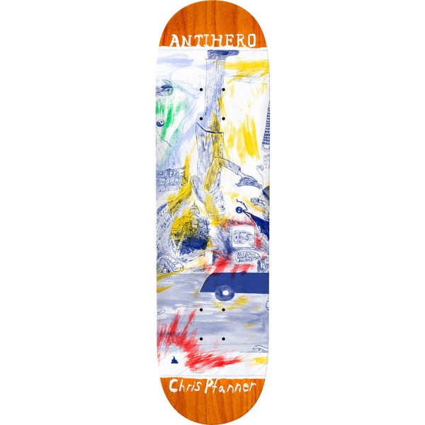 Anti Hero Skateboards Chris Pfanner SF Then And Now Deck 8.06""