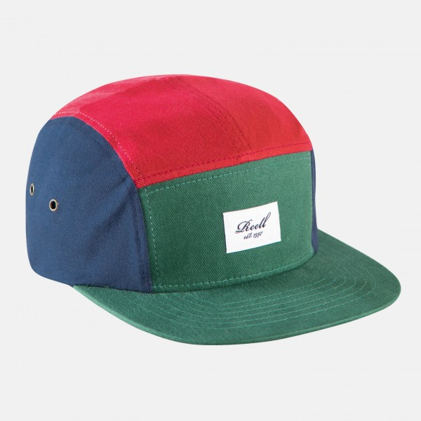 Reell 5-Panel Cap Red Green Navy