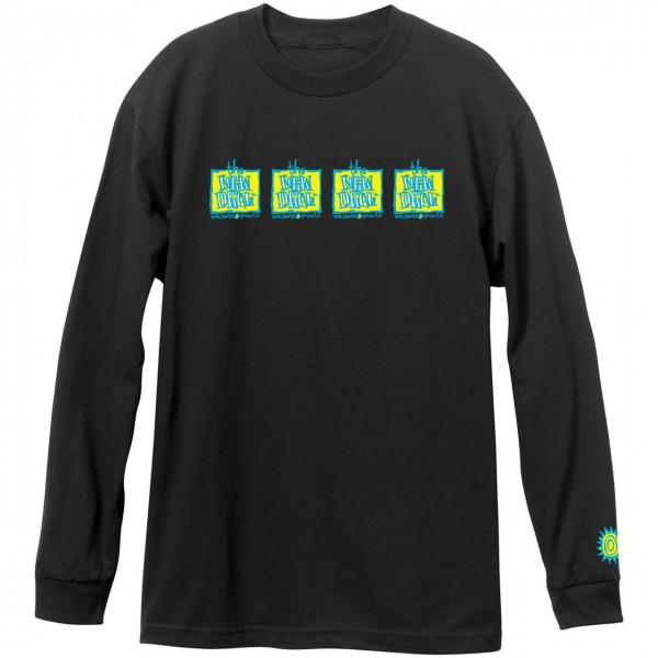 New Deal Skateboards Original Napkin 4 Bar Longsleeve black