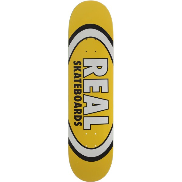 "Real Skateboards Classic Oval Yellow deck 8.06"" 01"