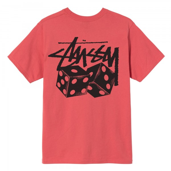 Stüssy Pair of Dice Tee pale red