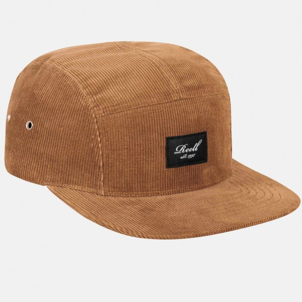Reell 5-Panel Cap Copper Brown Cord 01