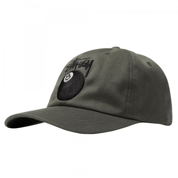 Stüssy Stock 8 Ball Low Pro Cap charcoal