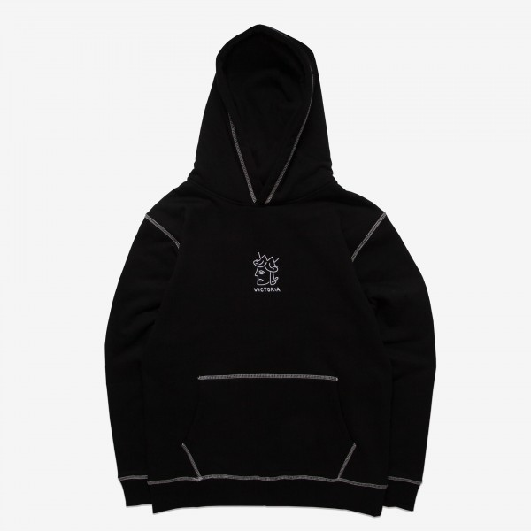 Victoria-HK-QH-Embroidered-Hoodie-121-411-BLK