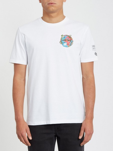 VOLCOM FREAKS CITY FA SS - WHITE FLASH zupport01