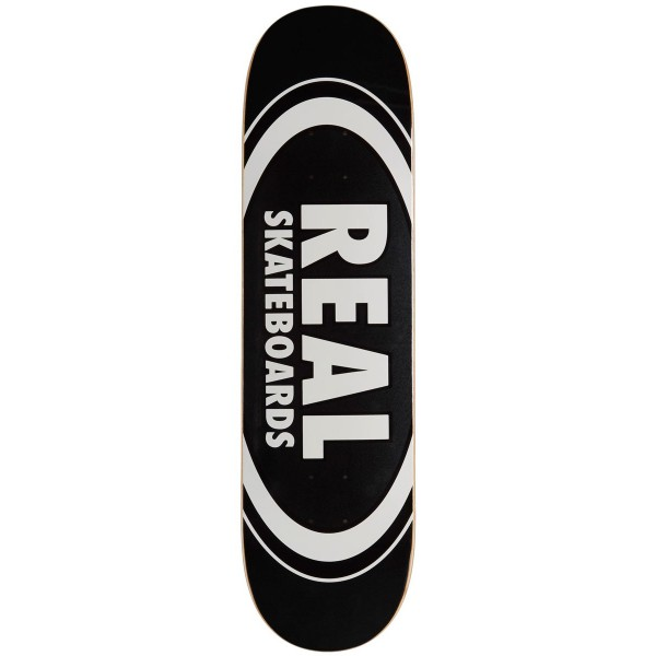 """Real Skateboards Classic Oval Black deck 8.25"""" 01"""