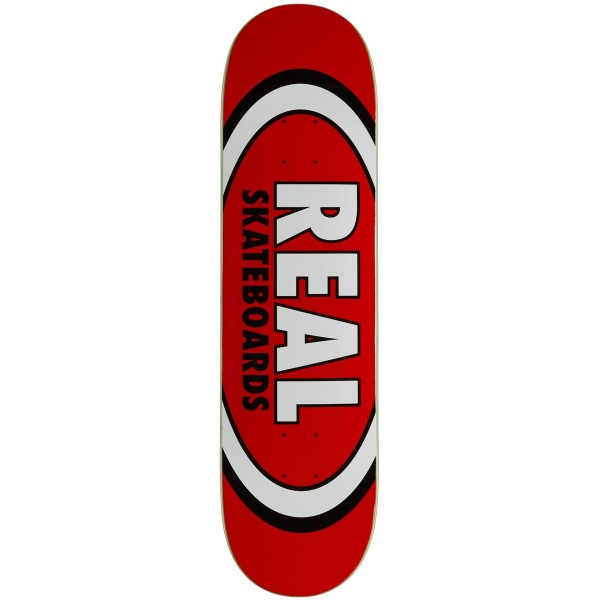 "Real Skateboards Classic Oval Red deck 8.12"" 01"