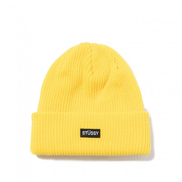 Stuessy-Small-Patch-Beanie-Yellow-132936-0201