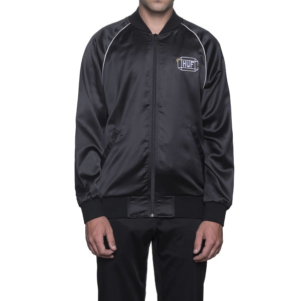 HUF Cabbie Satin Jacket Black